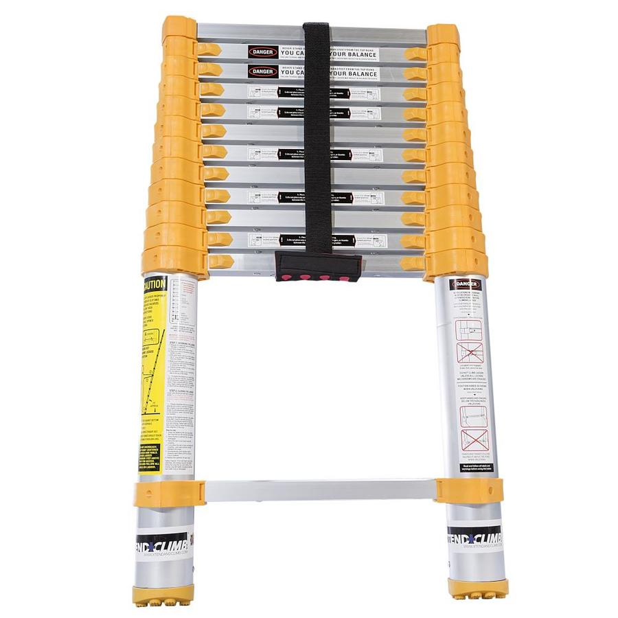 12 5 Extension Telescoping Aluminum Ladder : Shop xtend climb ft aluminum type lbs