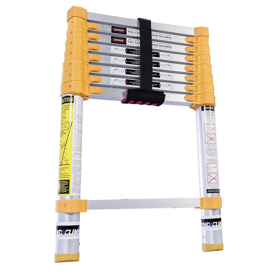 Xtend & Climb 8-1/2-ft Aluminum 225-lb Telescoping Type II Extension Ladder