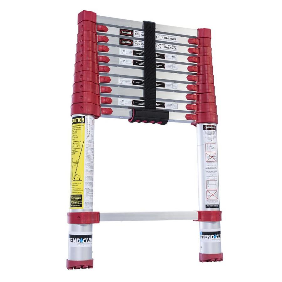 Xtend & Climb 10-1/2-ft Aluminum 225-lb Telescoping Type II Extension Ladder