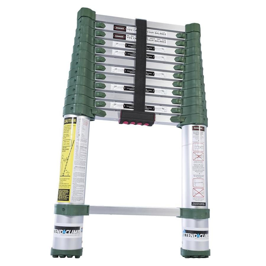 12 5 Extension Telescoping Aluminum Ladder : Shop xtend climb proseries aluminum ft type a