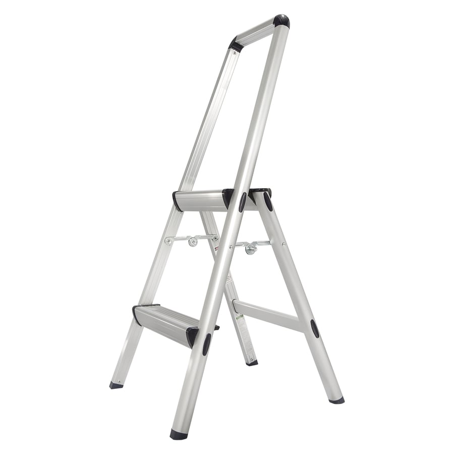 Xtend & Climb 2-Step Aluminum Step Stool with Hand Rail