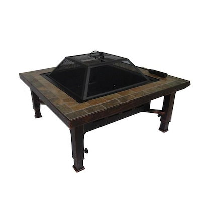 34-in W Brushed Bronze Steel Wood-Burning Fire Pit
