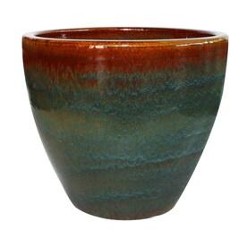 allen + roth 11.8-in W x 12.2-in H Ceramic Planter