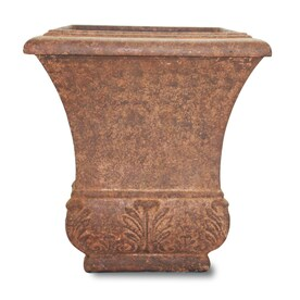 allen + roth 13.5-in W x 19.5-in H Light Rust Fiberglass Planter