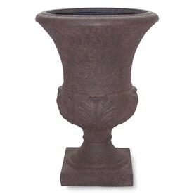 allen + roth 12.5-in W x 21-in H Rust Fiberglass Urn