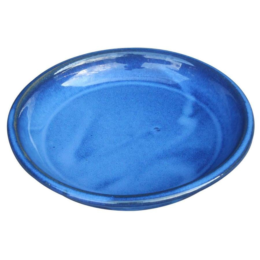Shop Allen Roth 11 In Blue Ceramic Plant Saucer At Lowes Com