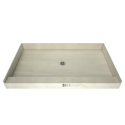 Made For Tile Fibergl Plastic Composite Shower Base 34 In W X 48 L With Center Drain