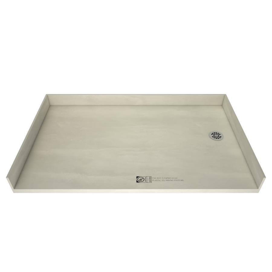 Tile Ready Made for Tile Fiberglass/Plastic Composite Shower Base (Common: 37-in W x 54-in L; Actual: 37-in W x 54-in L) with Right Drain
