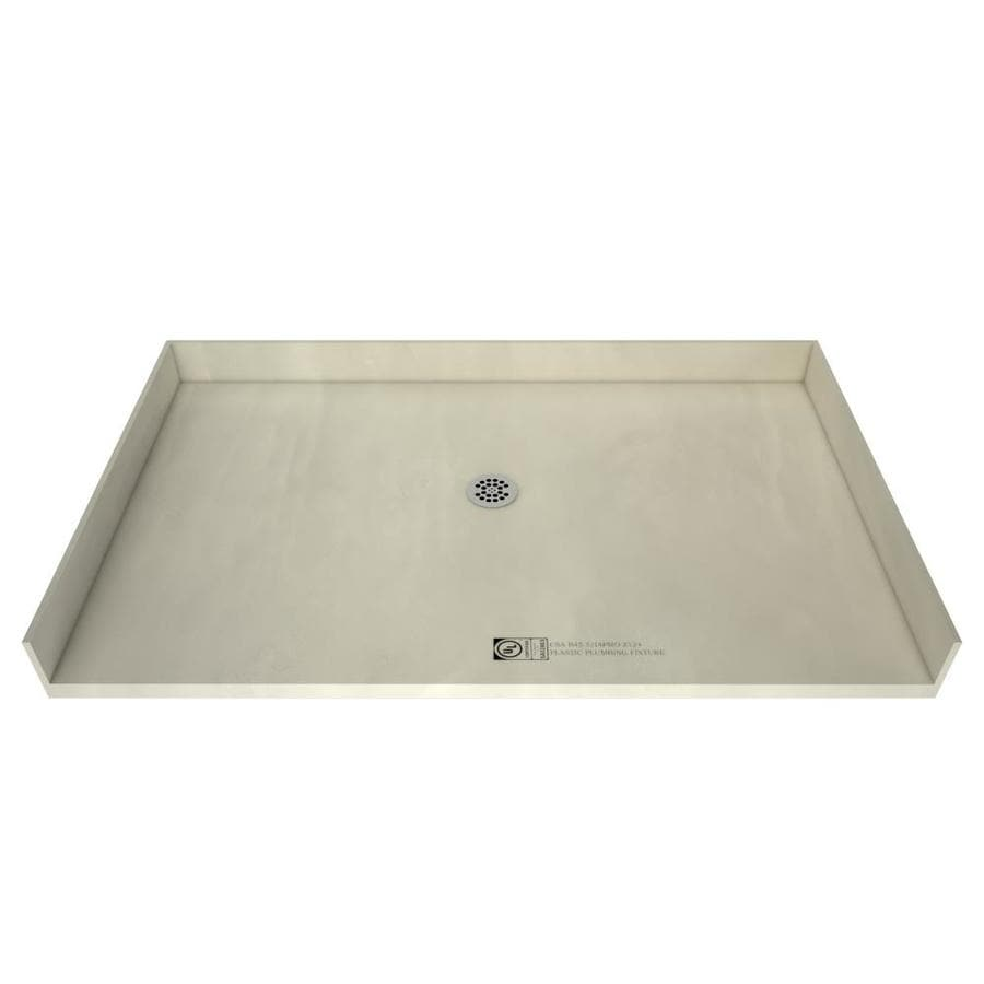 Tile Ready Made for Tile Fiberglass/Plastic Composite Shower Base (Common: 40-in W x 60-in L; Actual: 40-in W x 60-in L) with Center Drain