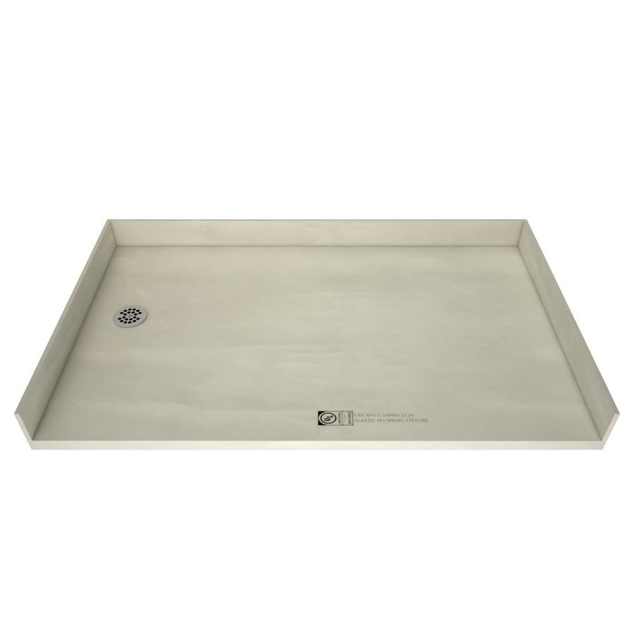 Tile Ready Made for Tile Fiberglass/Plastic Composite Shower Base (Common: 35-in W x 54-in L; Actual: 35-in W x 54-in L) with Left Drain