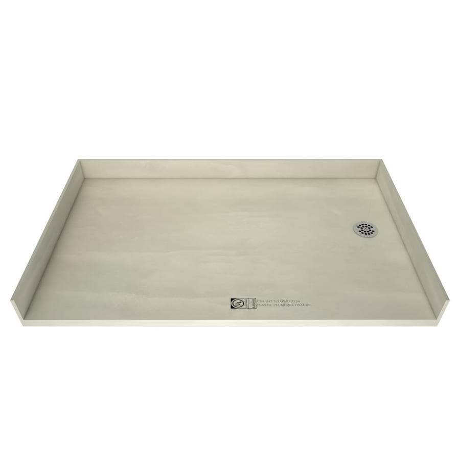 Tile Ready Made for Tile Fiberglass/Plastic Composite Shower Base (Common: 30-in W x 60-in L; Actual: 30-in W x 60-in L) with Right Drain