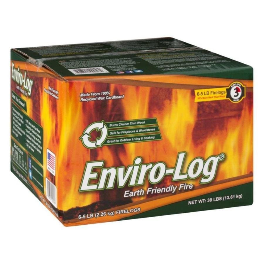 Enviro-Log 6-Pack 30-lb Fire Logs