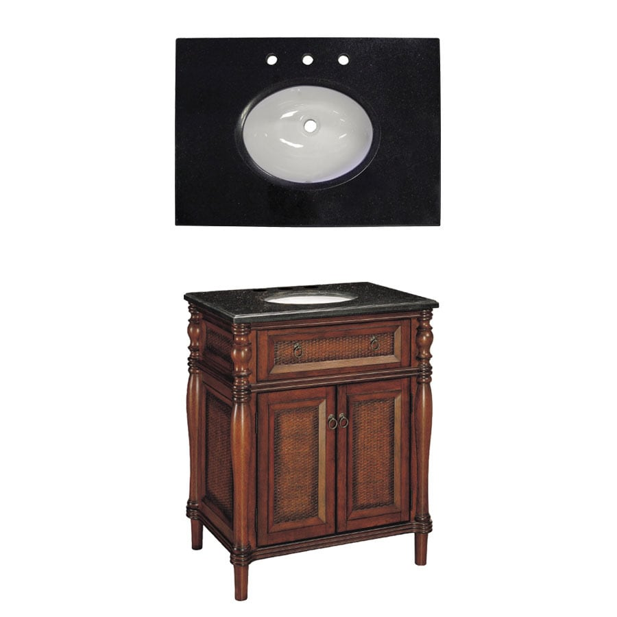 Bathroom Vanity 30 X 21 shop style selections bombay 30-in x 21-in wood undermount single