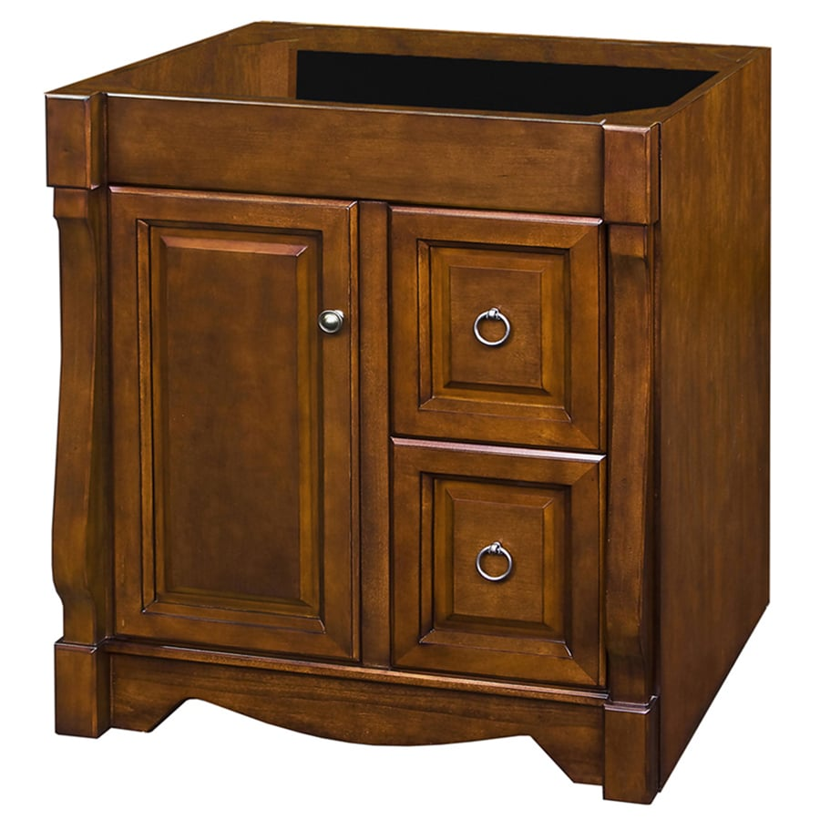 Shop Allen Roth Caladium Cherry Bathroom Vanity Common 30 In X 21 In Actual 30 In X 21 5