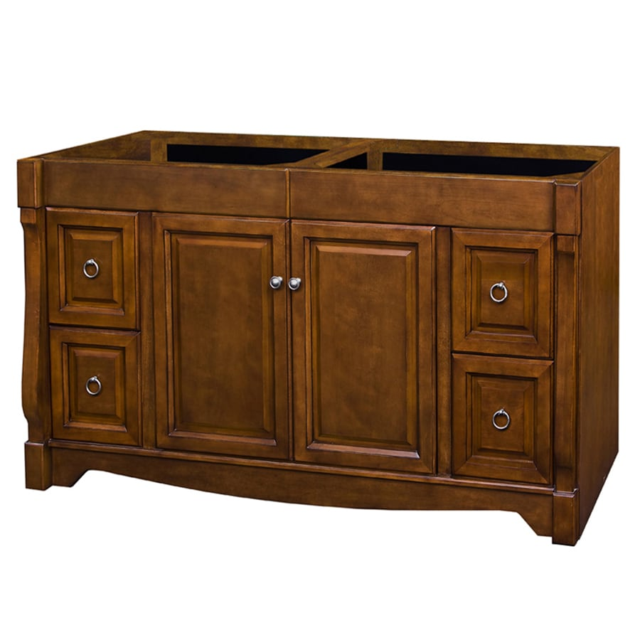 Shop Allen Roth Caladium Cherry Bathroom Vanity Common 60 In X 21 In Actual 60 In X 21 5