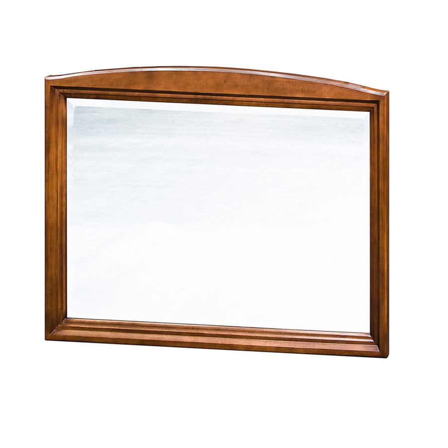 allen + roth Caladium 36-in W x 30-in H Cherry Rectangular Bathroom Mirror