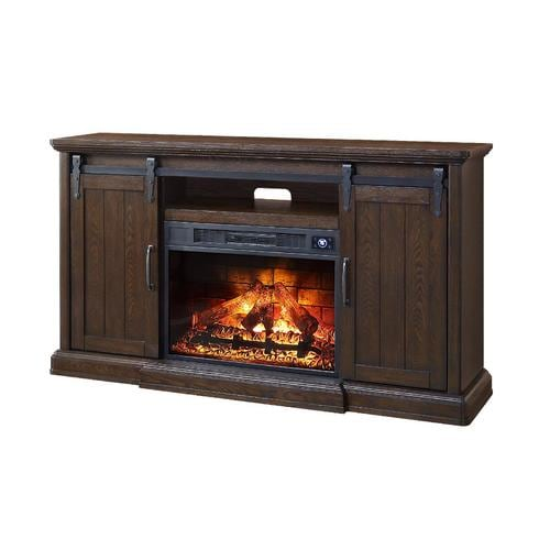 Febo Flame 62 In W Walnut Infrared Quartz Electric Fireplace At