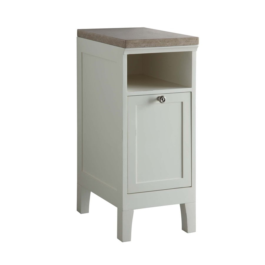 White Storage Cabinet Product Image 1 Allen Roth Windelton 32 4 In H X 13