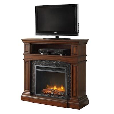 Pleasant Febo Flame 42 In W 5 120 Btu Cherry Wood And Metal Infrared Interior Design Ideas Inamawefileorg