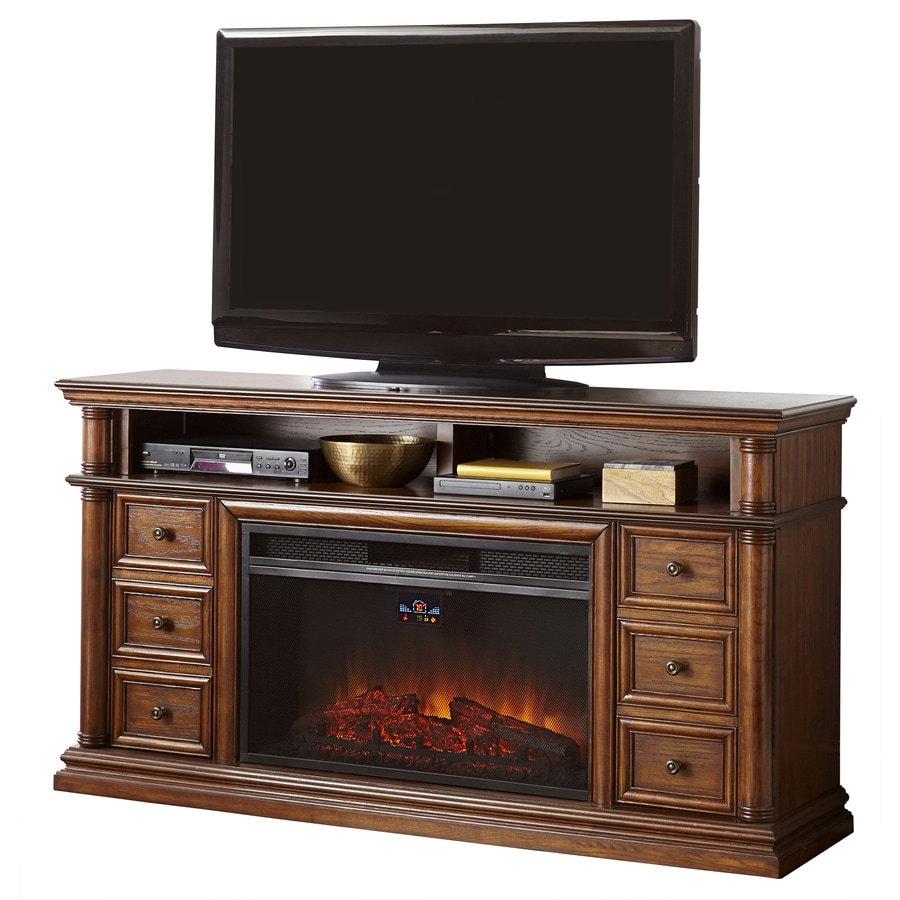 shop style selections 66 in w 5 120 btu sienna wood and metal