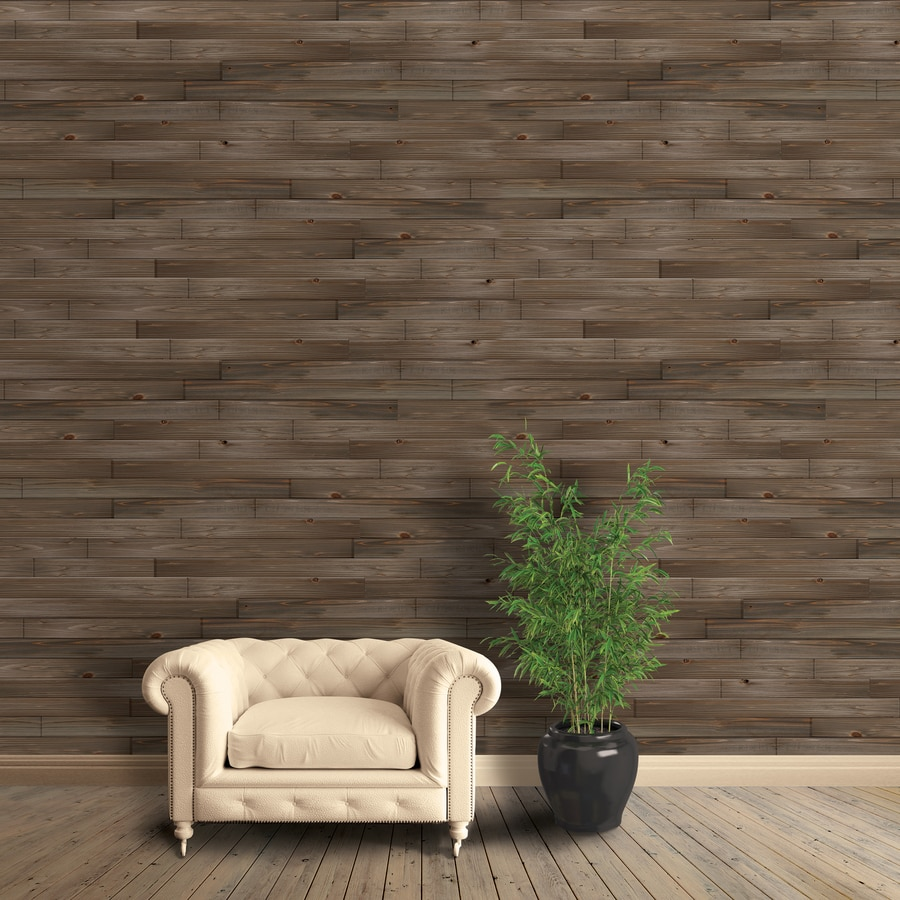 Superbe Design Innovations Reclaimed 14 Sq Ft Weathered Wood Tongue And Groove Wall  Plank Kit