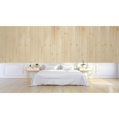3 5 In X 8 Ft Natural Pine Tongue And Groove Wall Plank Coverage Area 14 Sq