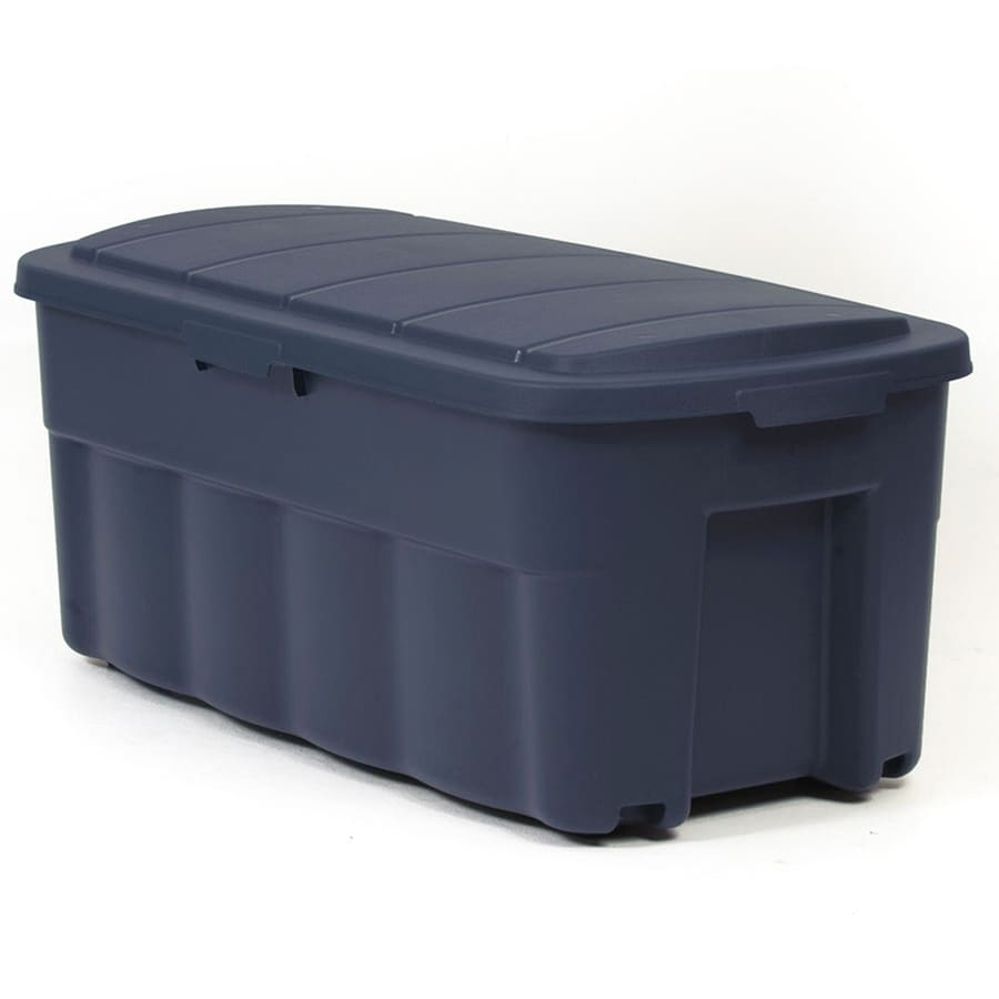 Centrex Plastics, LLC Rugged tote 50-Gallon Blue Tote with Standard Snap Lid
