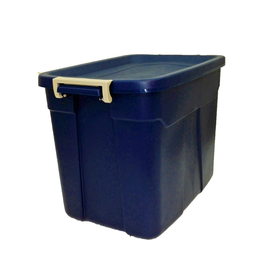 Centrex Plastics, LLC Rugged Tote 18-Gallon Blue Tote with Latching Lid