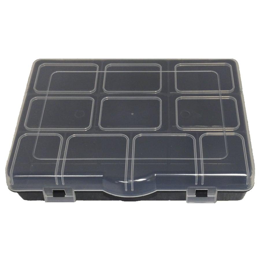 Project Source 6.47-in W x 1.84-in D Black Plastic Bin