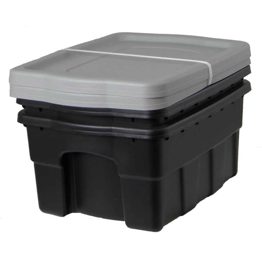 Centrex Plastics, LLC 2-Pack 4-Gallon Tote with Standard Snap Lid