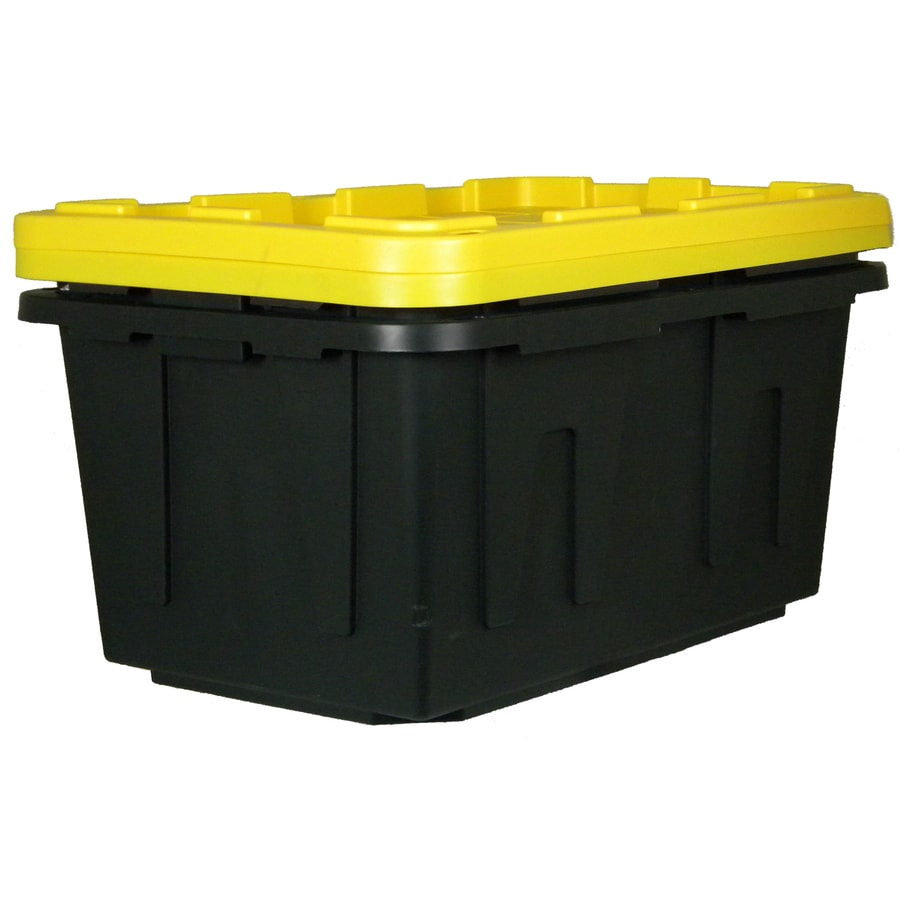 Centrex Plastics, LLC 2-Pack 27-Gallon Tote with Standard Snap Lid