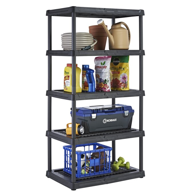 Blue Hawk 24 In D X 36 In W X 72 In H 5 Tier Plastic Freestanding Shelving Unit At Lowes Com