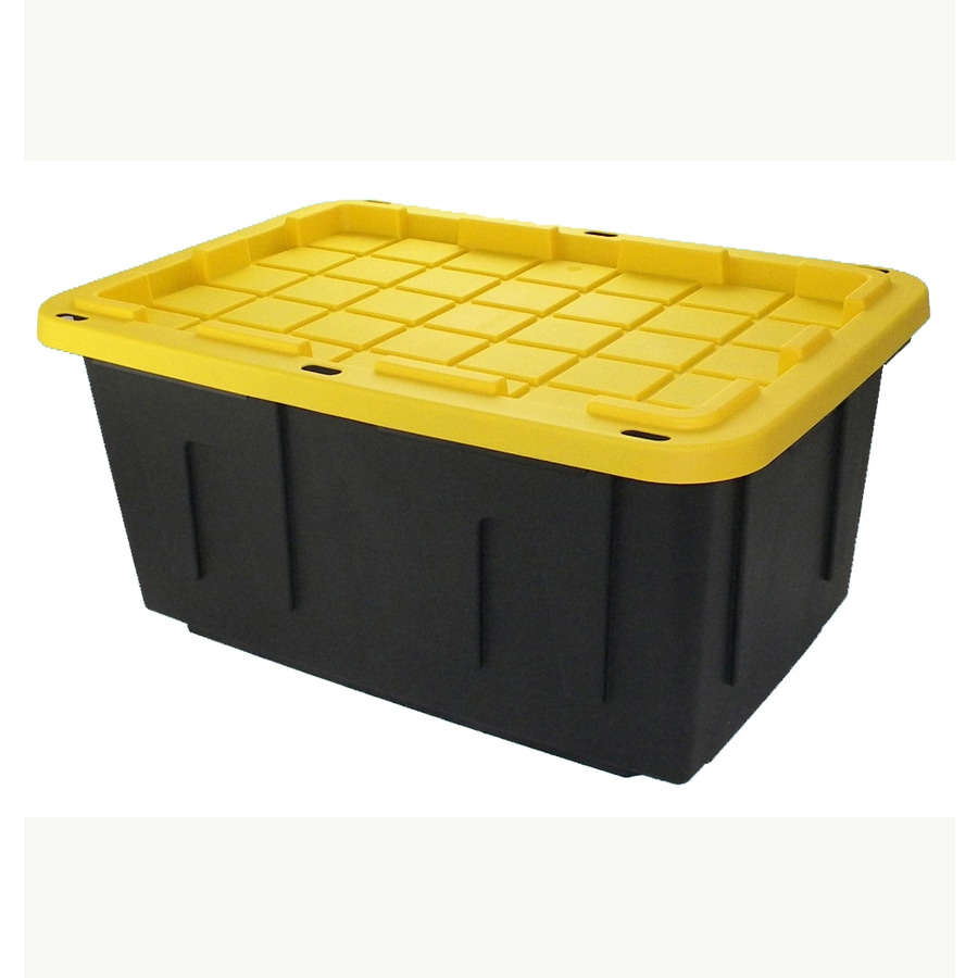 Centrex Plastics LLC Commander 27-Gallon Black Tote with Standard Snap Lid  sc 1 st  Loweu0027s & Shop Plastic Storage Totes at Lowes.com