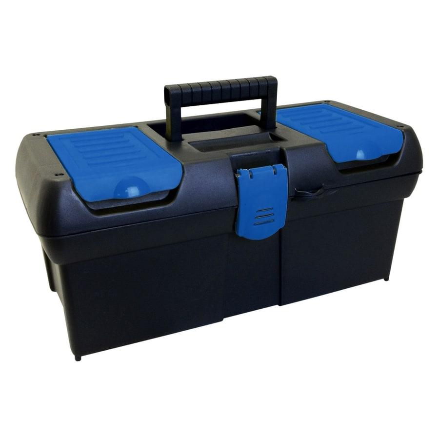 Blue Hawk 16.02-in Black Plastic Lockable Tool Box