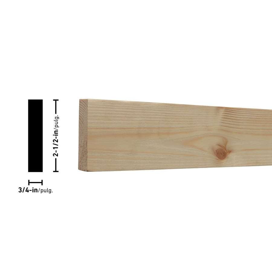 (Common: 1-in x 3-in x 6-ft; Actual: 0.75-in x 2.5-in x 6-ft) Eastern White Pine Board