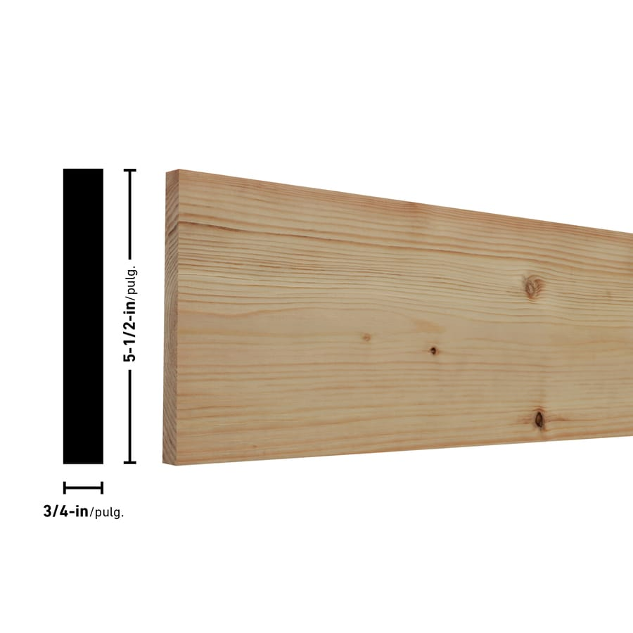 Eastern White Pine Board (Common: 1-in x 6-in x 6-ft; Actual: 0.75-in x 5.5-in x 6-ft)