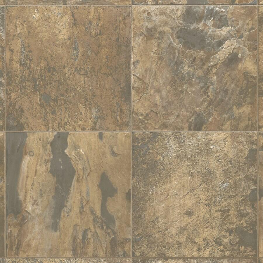 Armstrong Ashton 12-ft W Sedona Clay Stone Low-Gloss Finish Sheet Vinyl