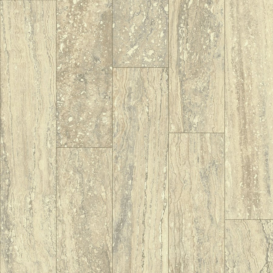 Armstrong Flooring Concerto Premium 12-ft W x Cut-to-Length Cream Wish Stone Low-Gloss Finish Sheet Vinyl