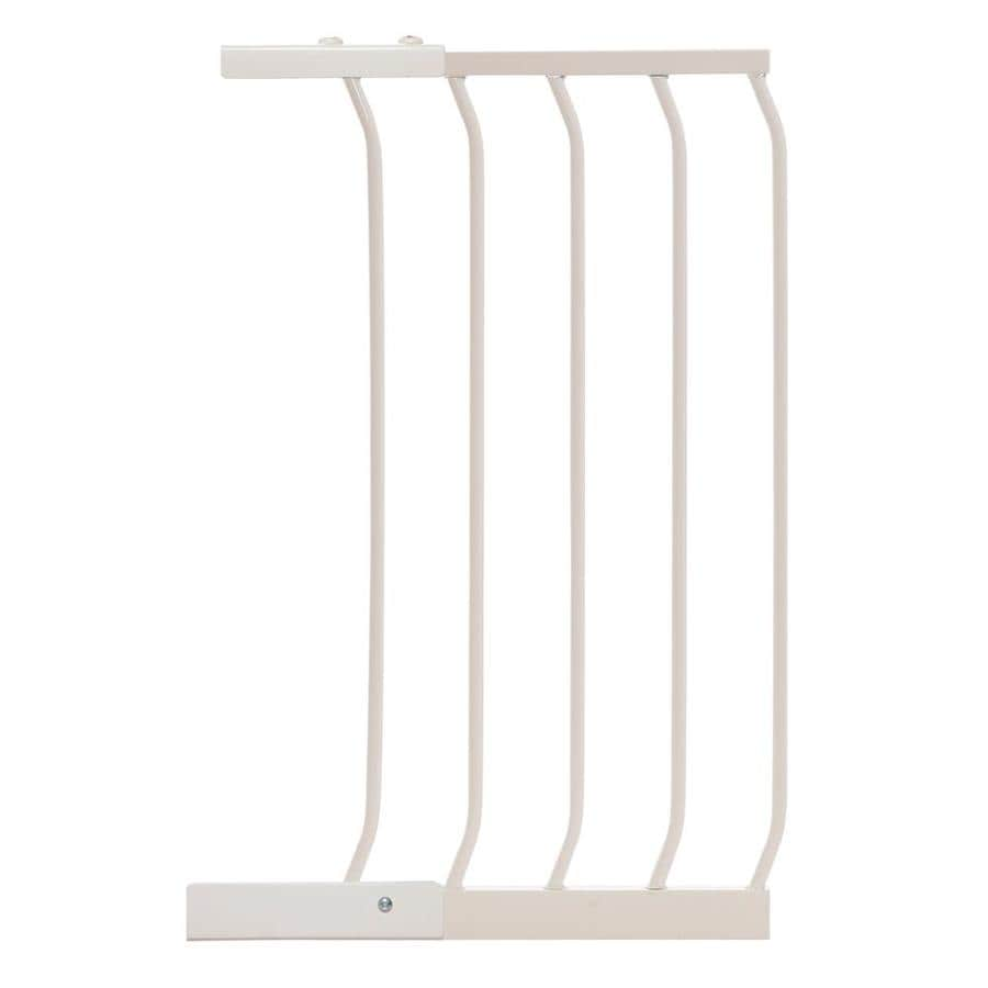 Dreambaby Chelsea Auto-Close 14-in x 29.5-in White Metal Child Safety Gate