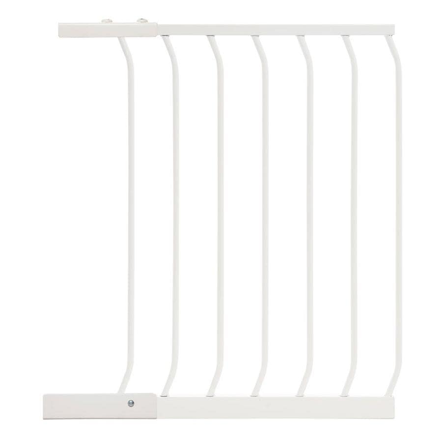Dreambaby Chelsea Auto-Close 21-in x 29.5-in White Metal Child Safety Gate