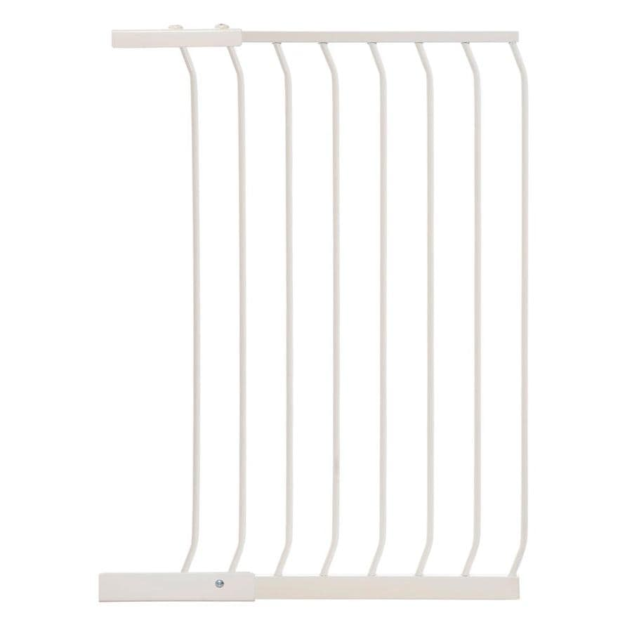 Dreambaby Chelsea Tall Auto-Close 24.5-in x 39.5-in White Metal Child Safety Gate