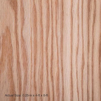 Top Choice 1 4 In Hpva Red Oak Plywood Application As 4 X 8 At