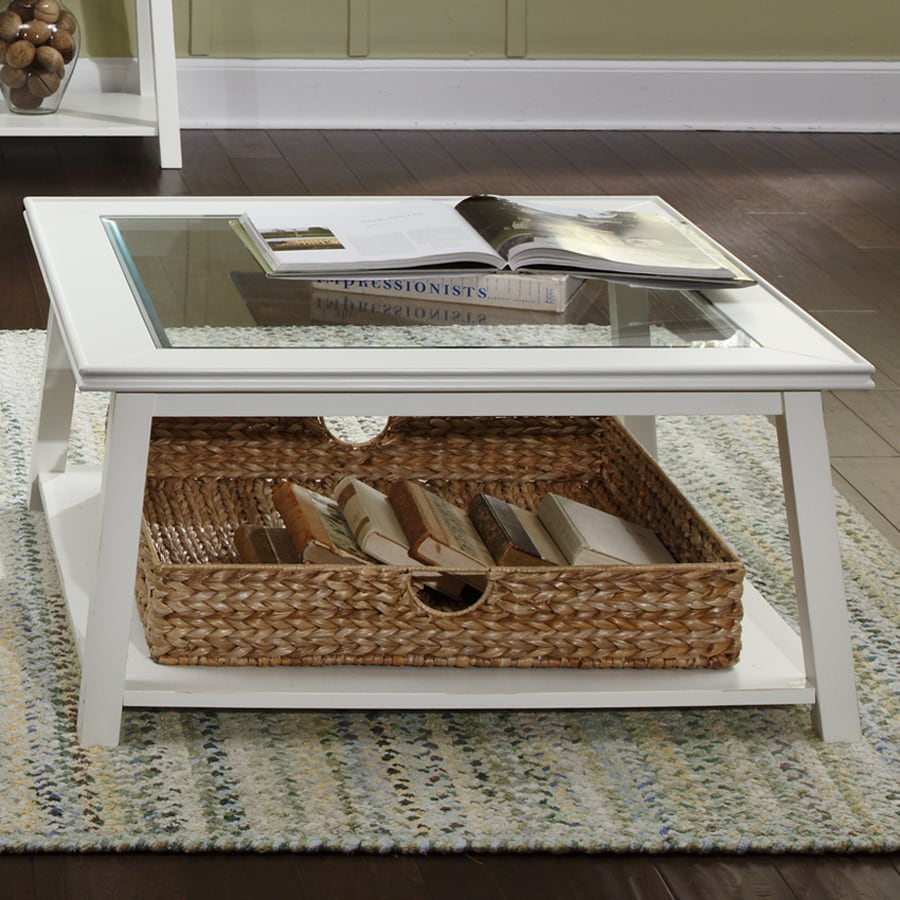 Liberty Furniture Summerhill Linen Glass Coffee Table