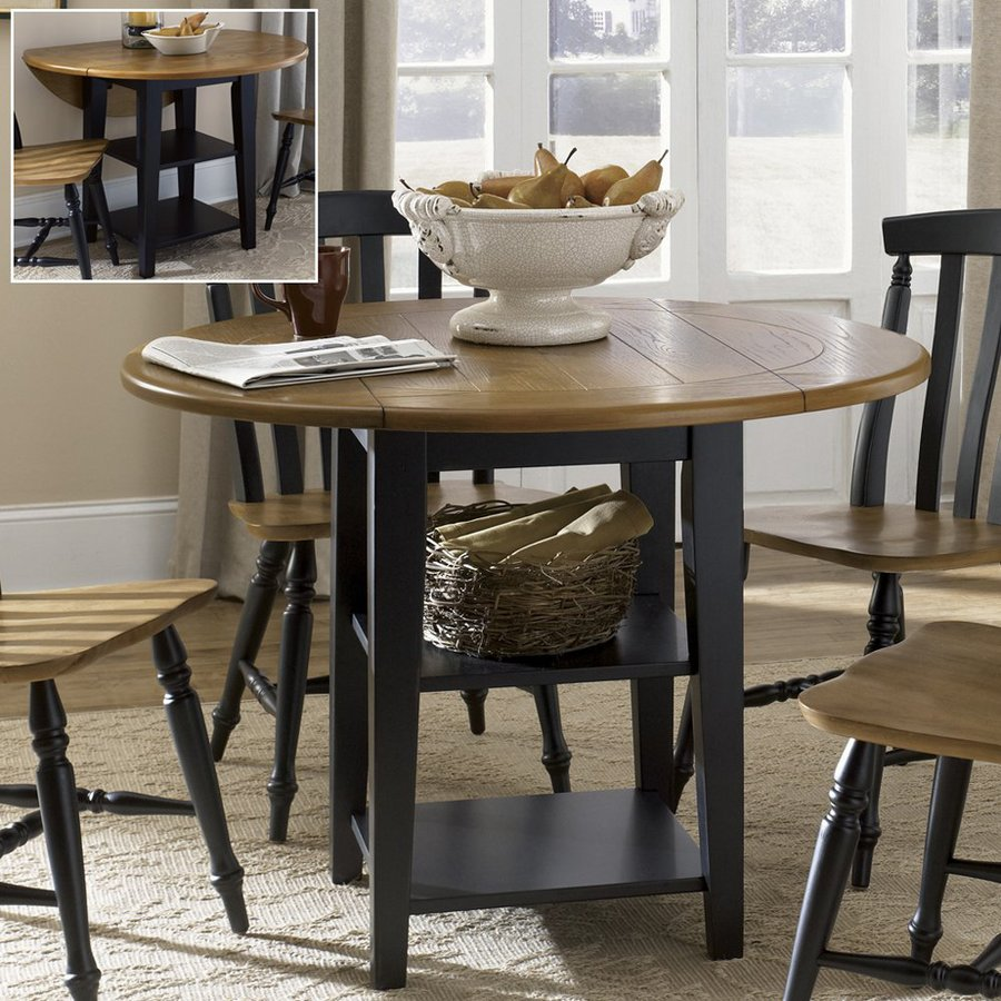 Shop Liberty Furniture Al Fresco Driftwood/Black Round Dining ...