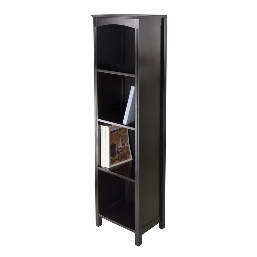Winsome Wood Terrace Espresso 4-Shelf Bookcase