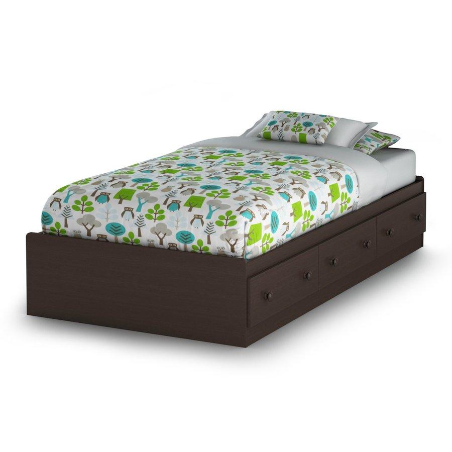 South Shore Furniture Savannah Espresso Twin Platform Bed with Storage