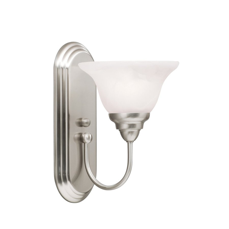 Kichler Telford 1-Light 12-in Brushed Nickel Bell Vanity Light