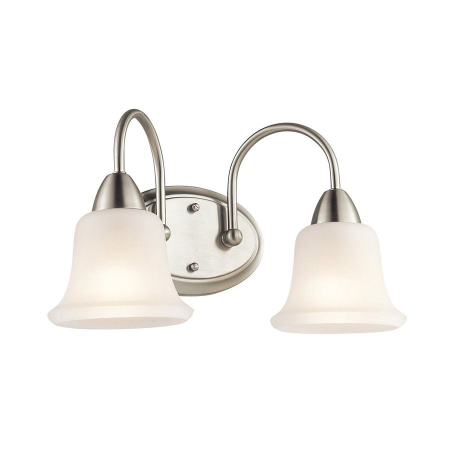 Kichler Lighting Nicholson 2-Light 10-in Brushed Nickel Bell Vanity Light