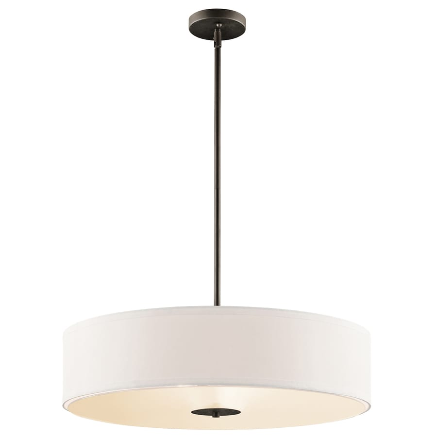 drum lighting pendant. Kichler 24-in W Etched Glass Semi-Flush Mount Light Drum Lighting Pendant