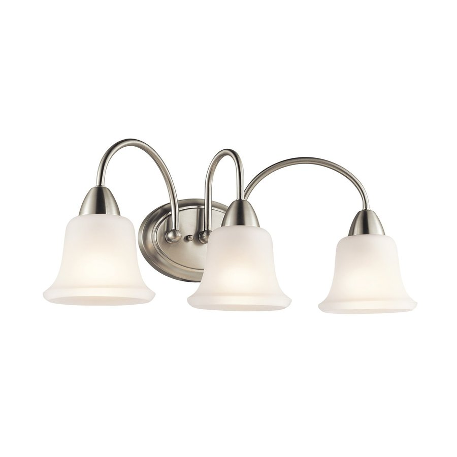 Kichler Lighting Nicholson 3-Light 10-in Brushed Nickel Bell Vanity Light